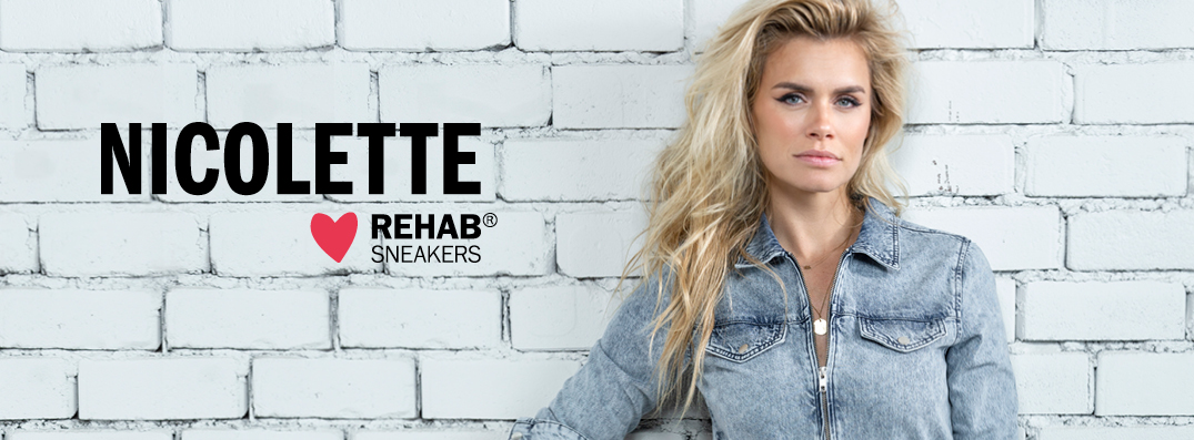 Nicolette Van Dam Sneaker Collectie Rehab Footwear Officiele